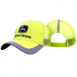 John Deere High Viz yellow mesh back cap
