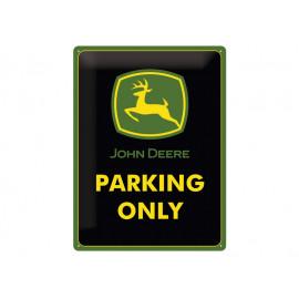 John Deere Tin Sign 15 x 20 cm - Parking Only