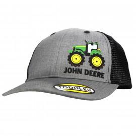 John Deere kids grey-black mesh back cap