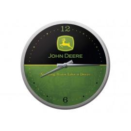 John Deere Wall Clock Logo